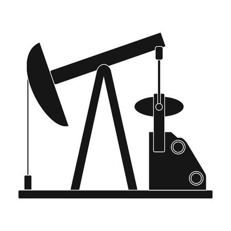 Oil pump.Oil single icon in black style vector symbol stock illustration web. Illustration