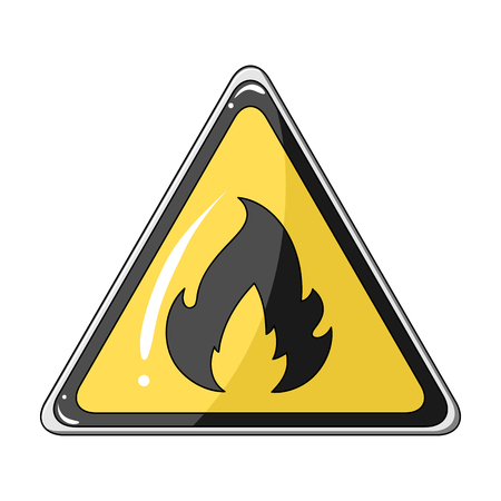Sign of flammability.Oil single icon in cartoon style vector symbol stock illustration web.