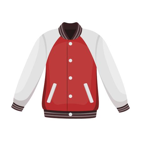 Uniform baseball jacket. Baseball single icon in cartoon style vector symbol stock illustration .