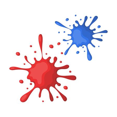 Drops, spray paint.Paintball single icon in cartoon style vector symbol stock illustration . Ilustrace