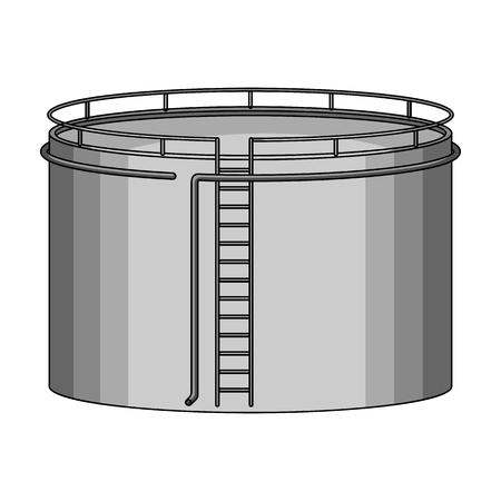Oil storage tank.Oil single icon in monochrome style vector symbol stock illustration web.
