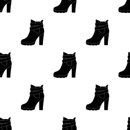 High women red shoes for everyday wear .Different shoes single icon in black pattern vector symbol stock illustration.
