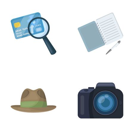 shadowing: Detective set collection icons in cartoon style vector symbol stock illustration web.