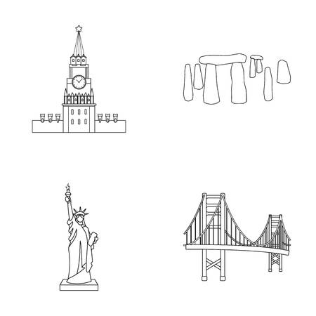 interesting: Building, interesting, place, coliseum .Countries country set collection icons in outline style vector symbol stock illustration web.