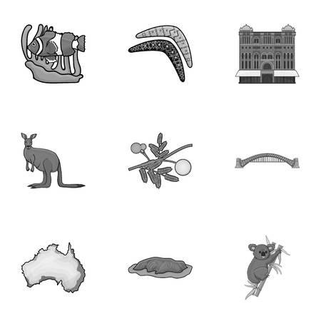 National symbols of australia. Ilustração