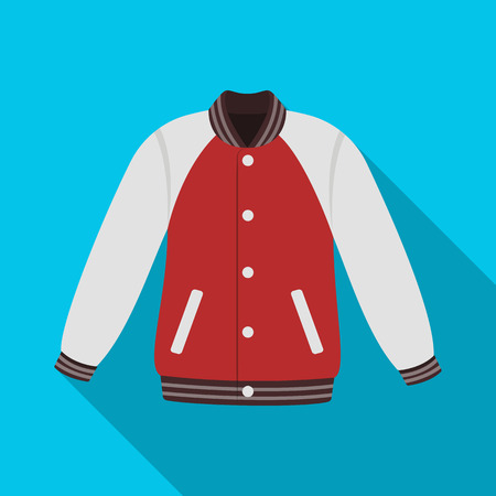 Uniform baseball jacket. Baseball single icon in flat style vector symbol stock illustration web.