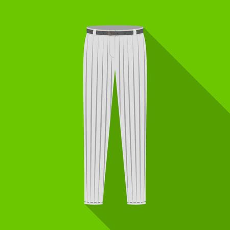 Uniform pants baseball. Baseball single icon in flat style vector symbol stock illustration web.