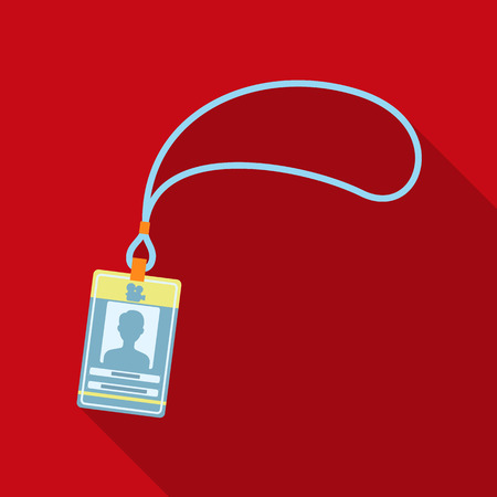 Badge on the tape.Making movie single icon in flat style vector symbol stock illustration web.
