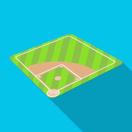 Baseball court. Baseball single icon in flat style vector symbol stock illustration web.