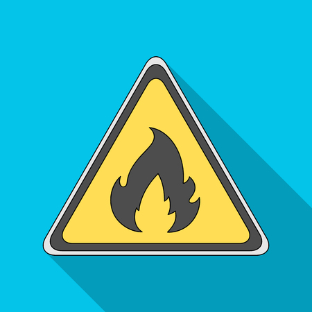 Sign of flammability.Oil single icon in flat style vector symbol stock illustration web.
