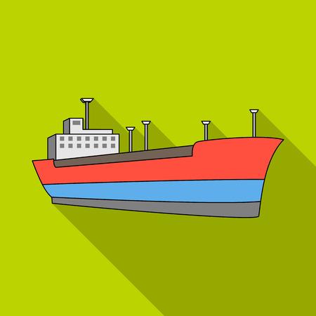Oil ship.Oil single icon in flat style vector symbol stock illustration web.