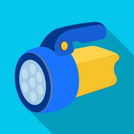 Flashlight.Tent single icon in flat style vector symbol stock illustration web. Illustration
