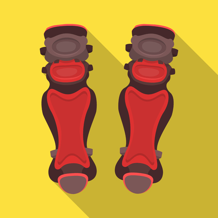 Protective knee pads. Baseball single icon in flat style vector symbol stock illustration web.