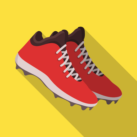 Baseball Sneakers. Baseball single icon in flat style vector symbol stock illustration web.