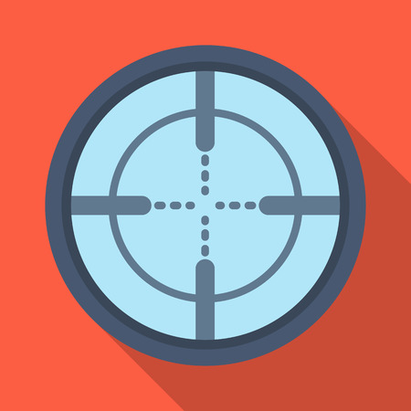 firearms: Optical sight.Paintball single icon in flat style vector symbol stock illustration web.