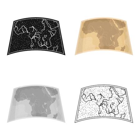 Map of mainland Africa.African safari single icon in cartoon style vector symbol stock illustration .