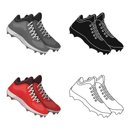 spiked: Baseball Sneakers. Baseball single icon in cartoon style vector symbol stock illustration .