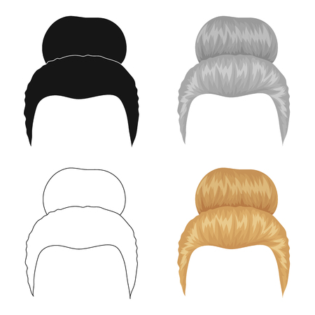 Blond hair with a shingle.Back hairstyle single icon in cartoon style vector symbol stock illustration web.