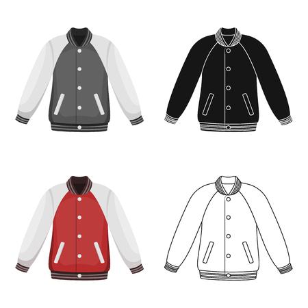 Uniform baseball jacket. Baseball single icon in cartoon style vector symbol stock illustration web. Illustration