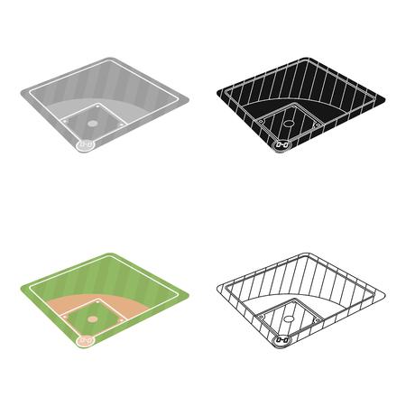 Baseball court. Baseball single icon in cartoon style vector symbol stock illustration web.