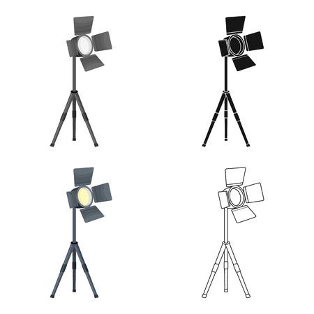 Searchlight for cinema.Making movie single icon in cartoon style vector symbol stock illustration web. Иллюстрация