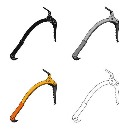mountaineering: Ice ax.Mountaineering single icon in cartoon style vector symbol stock illustration web.