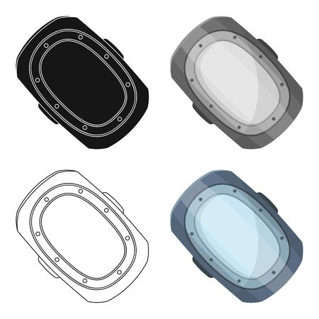 elbow pads: knee pad.Paintball single icon in cartoon style vector symbol stock illustration web. Illustration