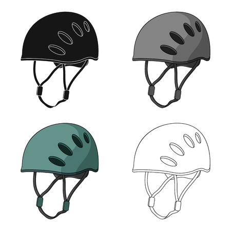 bouldering: Plastic helmet climber.Mountaineering single icon in cartoon style vector symbol stock illustration web.