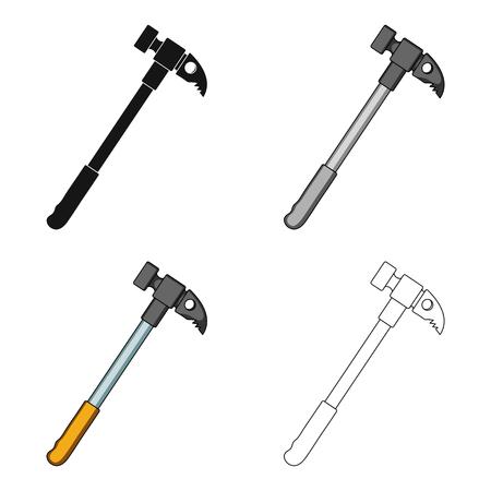 Hammer of climber.Mountaineering single icon in cartoon style vector symbol stock illustration web.
