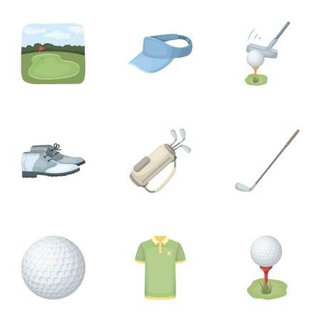 A Golfer, A Ball, A Club And Other Golf Attributes.Golf Club ... on cartoon easy draw golf club, easy drawings to draw golf club, cartoon golf club bag, cartoon swinging golf club,
