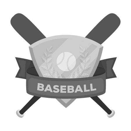 Emblem. Baseball single icon in monochrome style vector symbol stock illustration web.