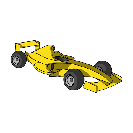 Car racing.Extreme sport single icon in cartoon style vector symbol stock illustration web.