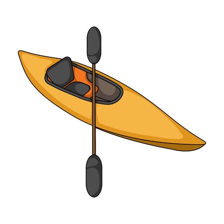 Kayak with oars.Extreme sport single icon in cartoon style vector symbol stock illustration web. Illustration