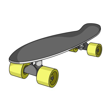 rulos: Skateboard.Extreme sport solo icono en estilo de dibujos animados vector símbolo stock ilustración web.