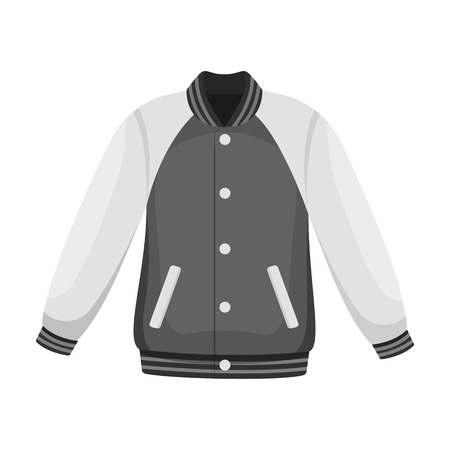 Uniform baseball jacket. Baseball single icon in monochrome style vector symbol stock illustration web. Illustration