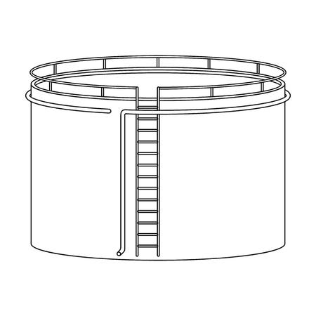 Oil storage tank.Oil single icon in outline style vector symbol stock illustration web.