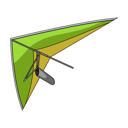 Hang gliding.Extreme sport single icon in cartoon style vector symbol stock illustration web.