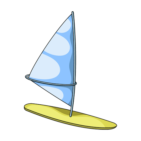 Surfing with a sail.Extreme sport single icon in cartoon style vector symbol stock illustration web. Illustration