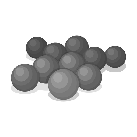 recreational pursuit: Balls for paintball.Paintball single icon in monochrome style vector symbol stock illustration web.
