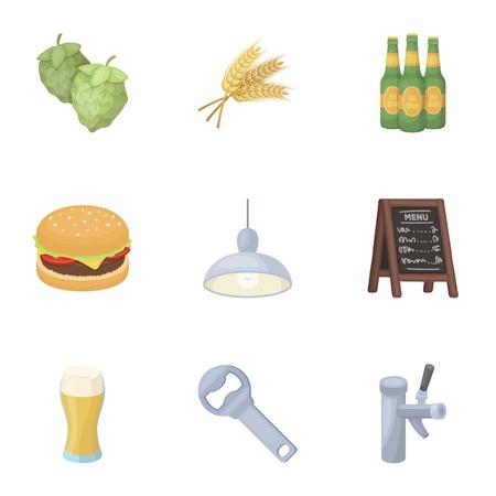 ale: Bar, pub, restaurant, cafe .Pub set collection icons in cartoon style vector symbol stock illustration web. Illustration