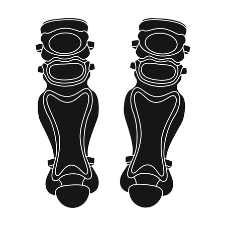 Protective knee pads. Baseball single icon in black style vector symbol stock illustration web. Illustration