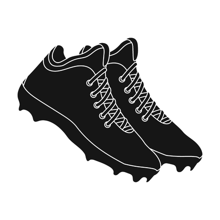 Baseball Sneakers. Baseball single icon in black style vector symbol stock illustration web. Illustration
