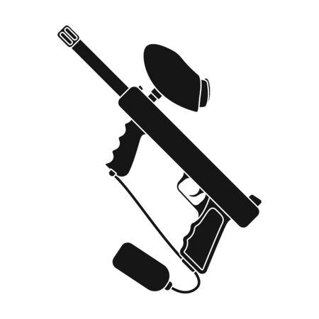 Marcador para paintball. Único ícone de paintball no estilo preto vector símbolo conservado em estoque ilustração web Foto de archivo - 80738770