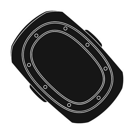elbow pads: knee pad.Paintball single icon in black style vector symbol stock illustration web. Illustration
