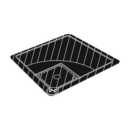 Baseball court. Baseball single icon in black style vector symbol stock illustration web. Illustration