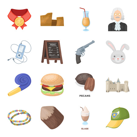 Country, finance, nature and other web icon in cartoon style.Sport, food, service icons in set collection.