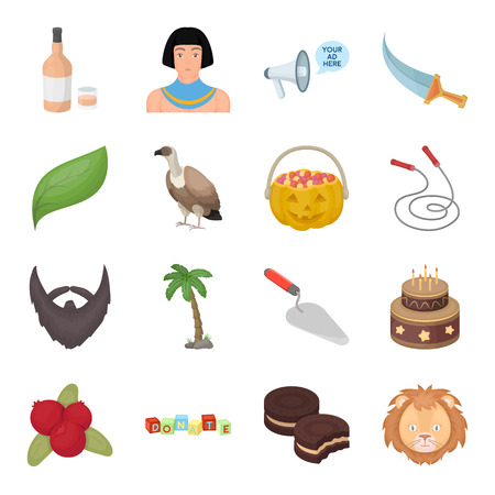 masonry: Egypt, fitness, animal and other web icon in cartoon style. Recreation, building, bird icons in set collection.