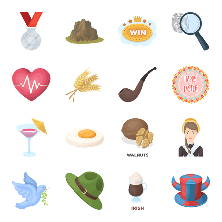 pigeon egg: Fan, country, food and other web icon in cartoon style.Detective, police, health icons in set collection.