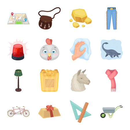 Police, packing, rodeo and other web icon in cartoon style.Animals, education, sports icons in set collection. Illustration