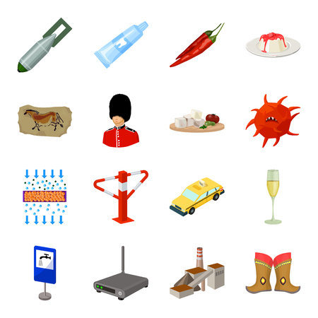 Mongolia, transport, alcohol, army and other web icon in cartoon style. Dentistry, mexico, food icons in set collection.